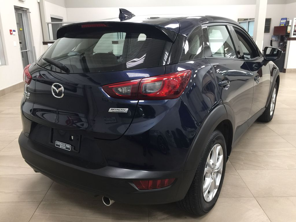 BLUE 2019 Mazda CX-3 GS AWD Right Rear Corner Photo in Sherwood Park AB