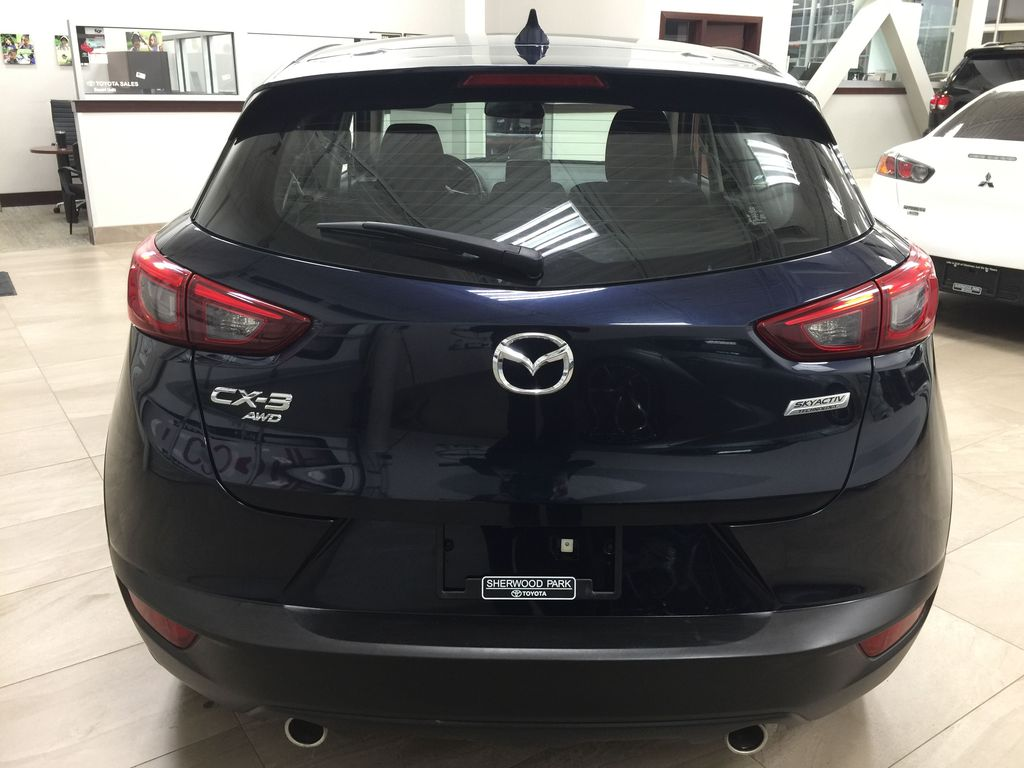 BLUE 2019 Mazda CX-3 GS AWD Rear of Vehicle Photo in Sherwood Park AB