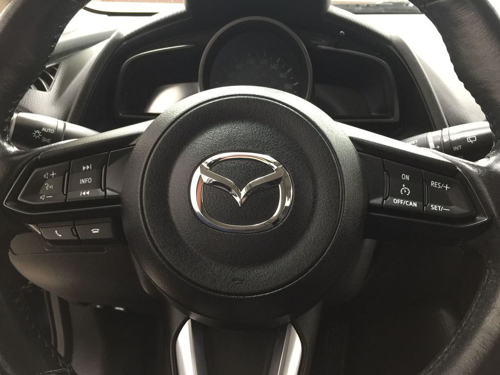 BLUE 2019 Mazda CX-3 GS AWD Steering Wheel and Dash Photo in Sherwood Park AB