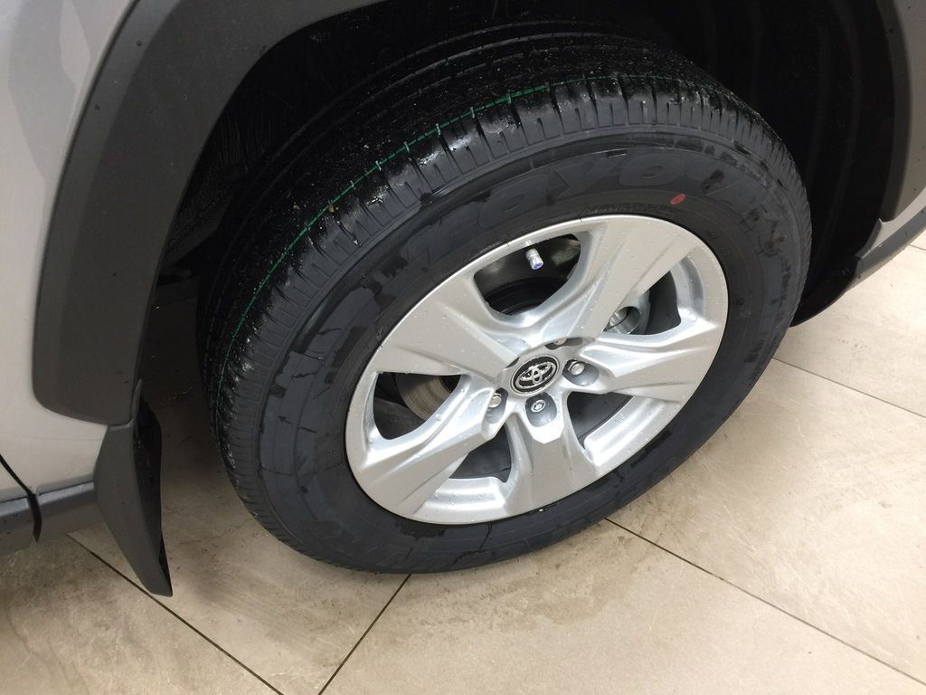 Silver[Silver Sky Metallic] 2021 Toyota RAV4 XLE AWD Right Front Rim and Tire Photo in Sherwood Park AB