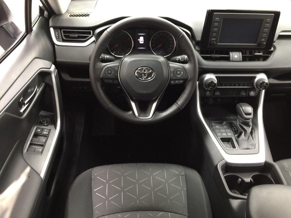 Silver[Silver Sky Metallic] 2021 Toyota RAV4 XLE AWD Left Front Seat Photo in Sherwood Park AB