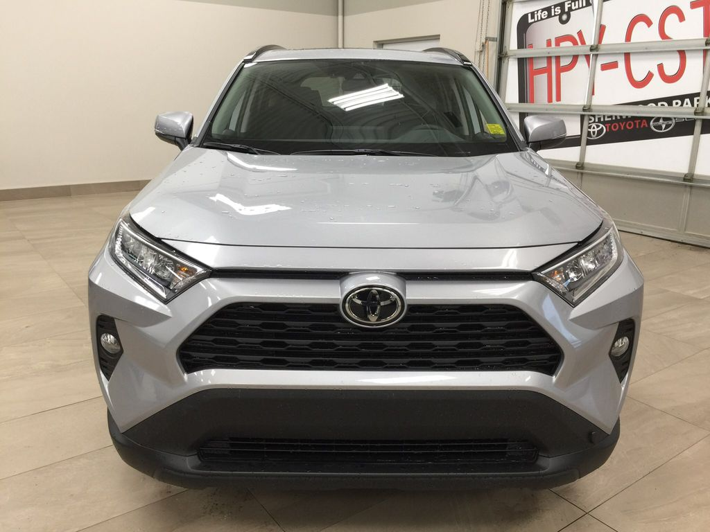Silver[Silver Sky Metallic] 2021 Toyota RAV4 XLE AWD Front Vehicle Photo in Sherwood Park AB
