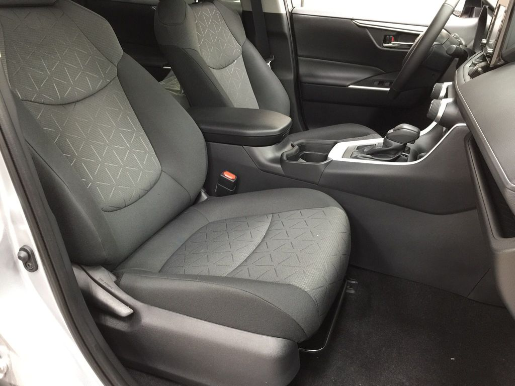 Silver[Silver Sky Metallic] 2021 Toyota RAV4 XLE AWD Right Side Front Seat  Photo in Sherwood Park AB
