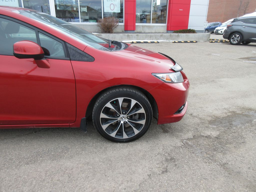 Orange[Sunburst Orange Pearl] 2013 Honda Civic Cpe Left Side Rear Seat  Photo in Okotoks AB