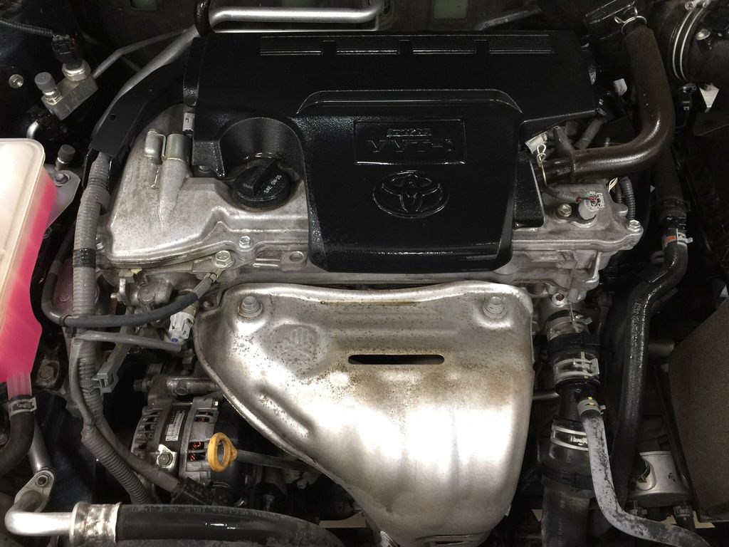 Blue[Galactic Aqua Mica] 2018 Toyota RAV4 SE AWD Engine Compartment Photo in Sherwood Park AB