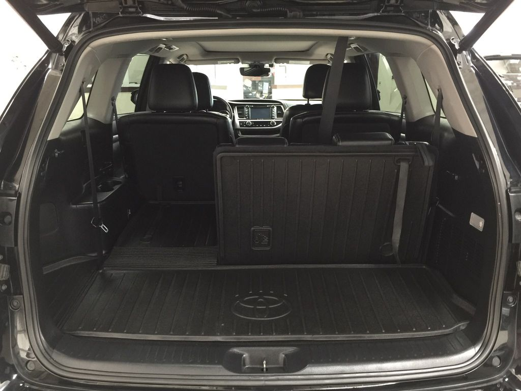 Black[Midnight Black Metallic] 2017 Toyota Highlander Limited AWD Cargo Area/Rear Seats Photo in Sherwood Park AB