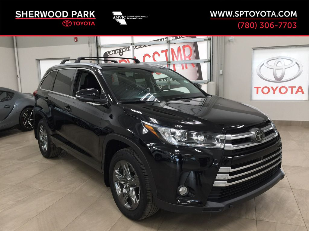 Black[Midnight Black Metallic] 2017 Toyota Highlander Limited AWD