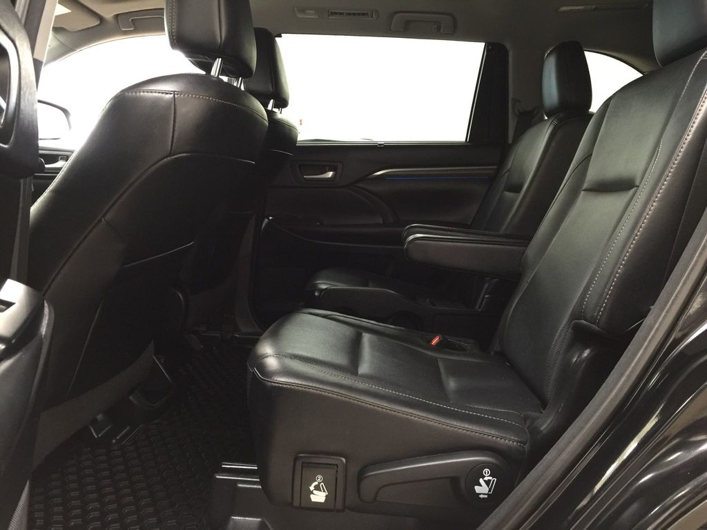 Black[Midnight Black Metallic] 2017 Toyota Highlander Limited AWD Left Side Rear Seat  Photo in Sherwood Park AB