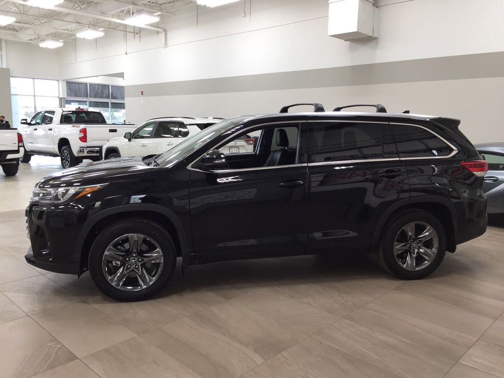 Black[Midnight Black Metallic] 2017 Toyota Highlander Limited AWD Left Side Photo in Sherwood Park AB