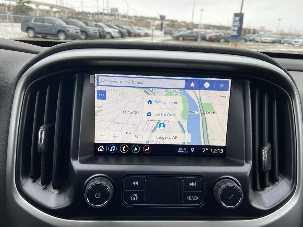 Red[Cherry Red Tintcoat] 2021 Chevrolet Colorado ZR2 Navigation Screen Closeup Photo in Calgary AB