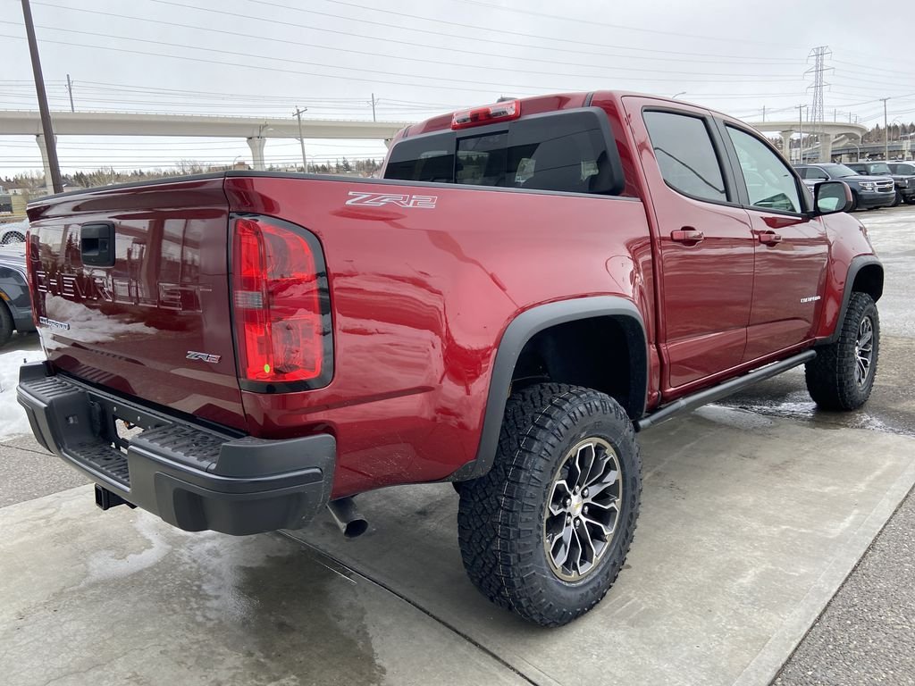 Red[Cherry Red Tintcoat] 2021 Chevrolet Colorado ZR2 Right Rear Corner Photo in Calgary AB