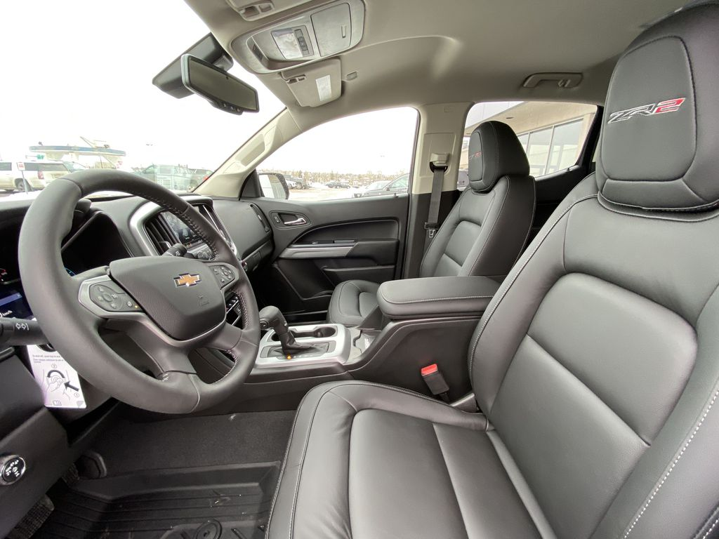 Red[Cherry Red Tintcoat] 2021 Chevrolet Colorado ZR2 Left Front Interior Photo in Calgary AB