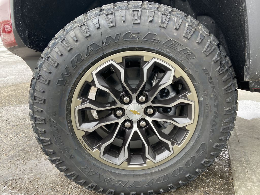 Red[Cherry Red Tintcoat] 2021 Chevrolet Colorado ZR2 Left Front Rim and Tire Photo in Calgary AB