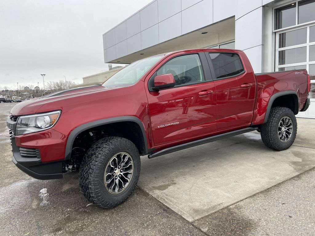 Red[Cherry Red Tintcoat] 2021 Chevrolet Colorado ZR2 Left Front Corner Photo in Calgary AB