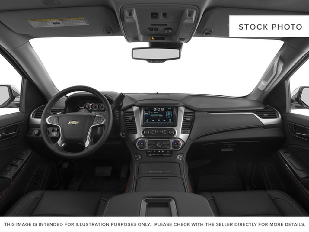 White[Iridescent Pearl Tricoat] 2017 Chevrolet Tahoe Central Dash Options Photo in Edmonton AB