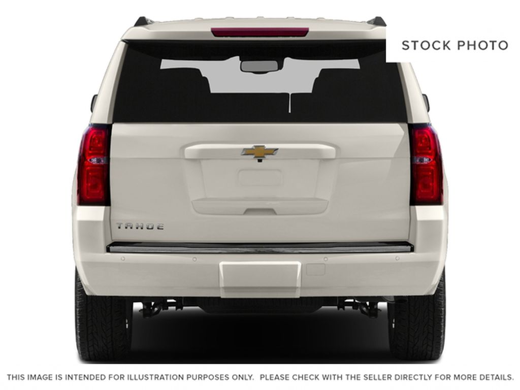 White[Iridescent Pearl Tricoat] 2017 Chevrolet Tahoe Rear of Vehicle Photo in Edmonton AB