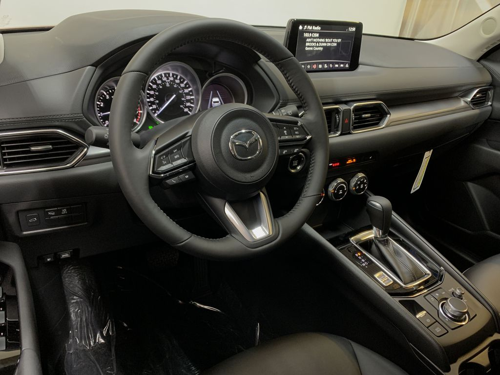 SOUL RED CRYSTAL METALLIC(46V) 2021 Mazda CX-5 GS AWD Steering Wheel and Dash Photo in Edmonton AB