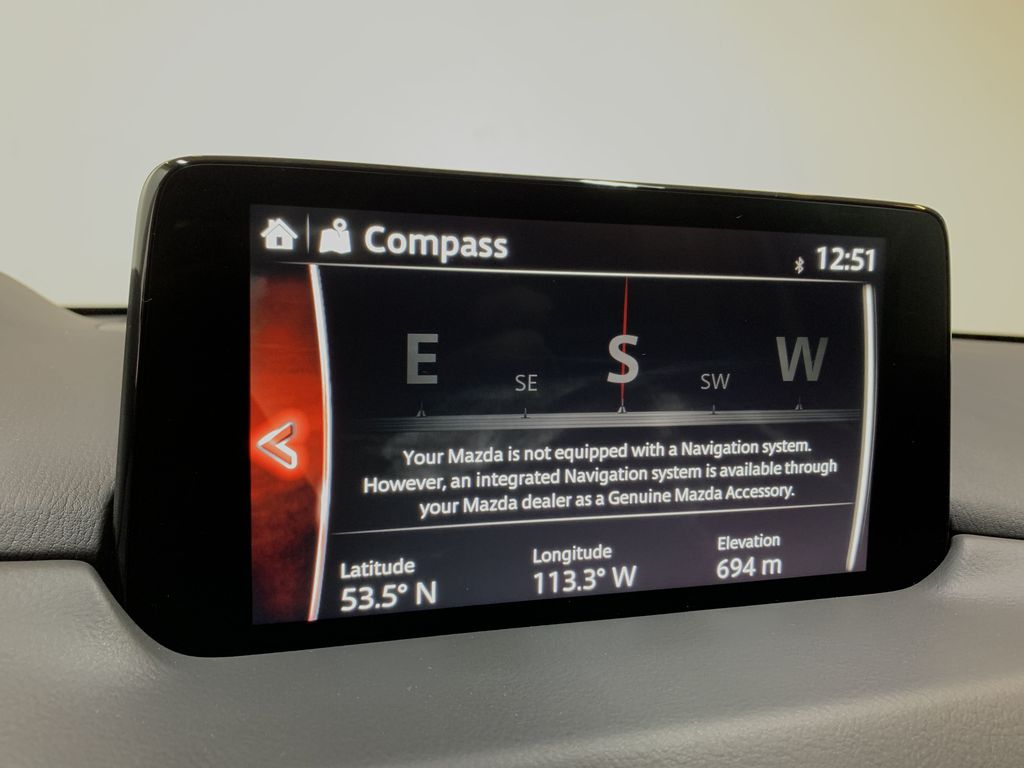 SOUL RED CRYSTAL METALLIC(46V) 2021 Mazda CX-5 GS AWD Navigation Screen Closeup Photo in Edmonton AB