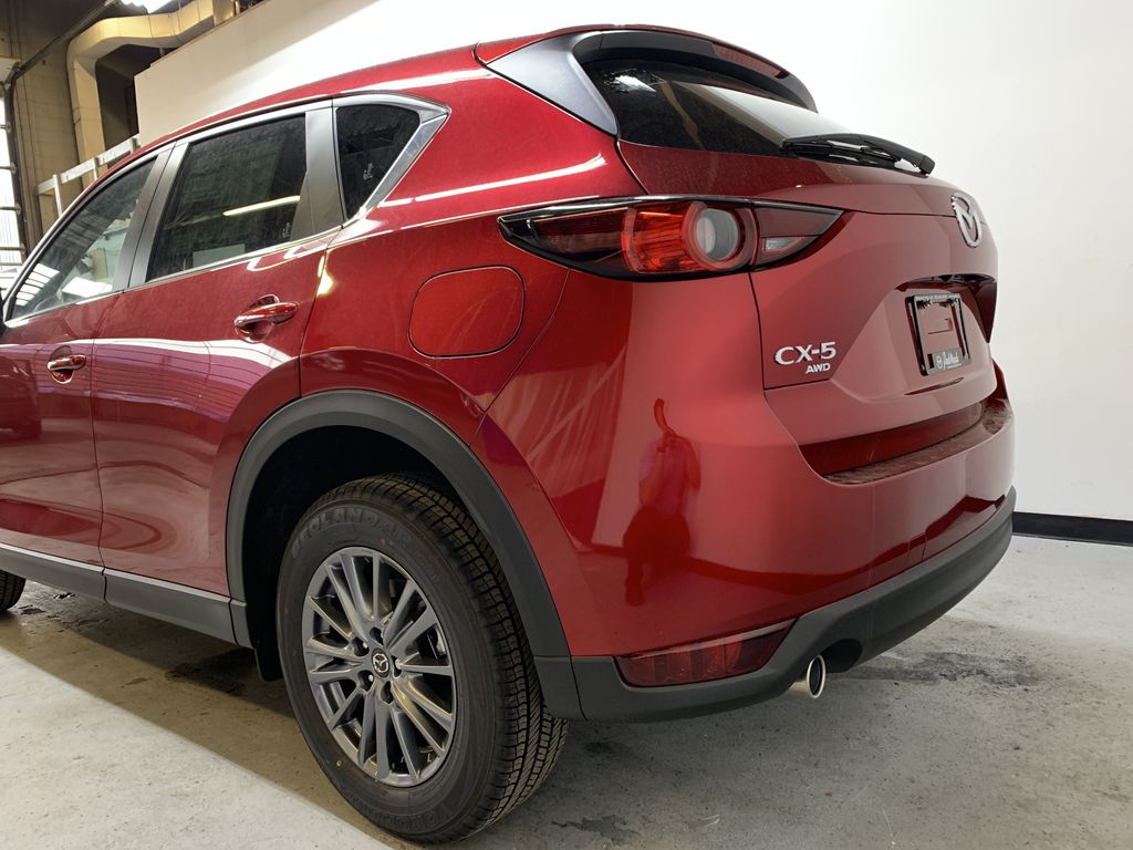 SOUL RED CRYSTAL METALLIC(46V) 2021 Mazda CX-5 GS AWD Left Rear Corner Photo in Edmonton AB