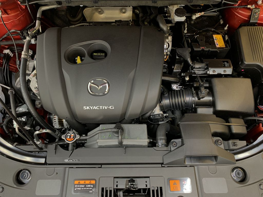 SOUL RED CRYSTAL METALLIC(46V) 2021 Mazda CX-5 GS AWD Engine Compartment Photo in Edmonton AB