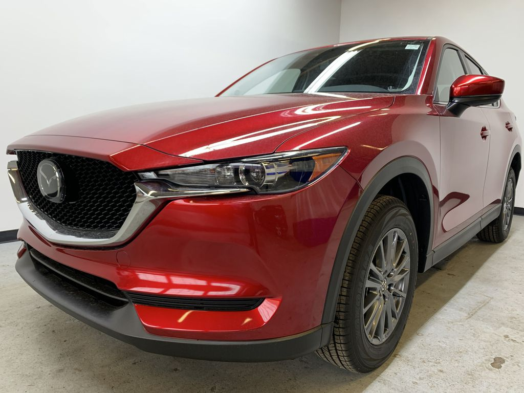 SOUL RED CRYSTAL METALLIC(46V) 2021 Mazda CX-5 GS AWD Left Front Corner Photo in Edmonton AB