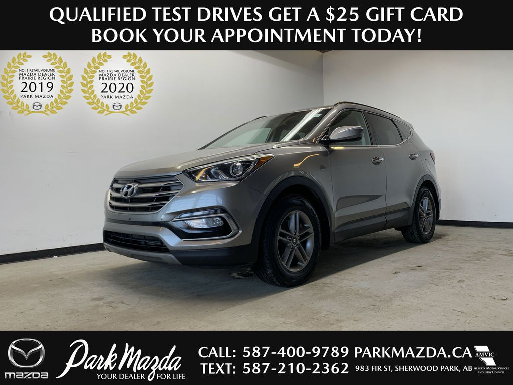 SILVER 2017 Hyundai Santa Fe Sport Premium - Remote Start, Heated Seats, Backup Camera