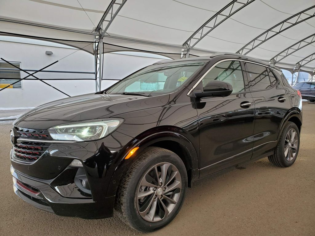 Black 2021 Buick Encore GX Apple Carplay/Android Auto Photo in Airdrie AB