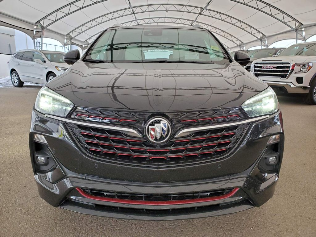 Black 2021 Buick Encore GX Left Front Corner Photo in Airdrie AB