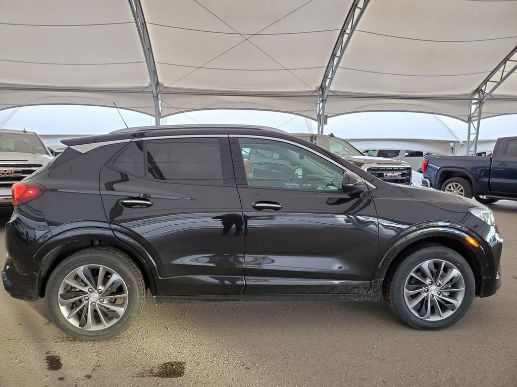 Black 2021 Buick Encore GX Right Side Front Seat  Photo in Airdrie AB