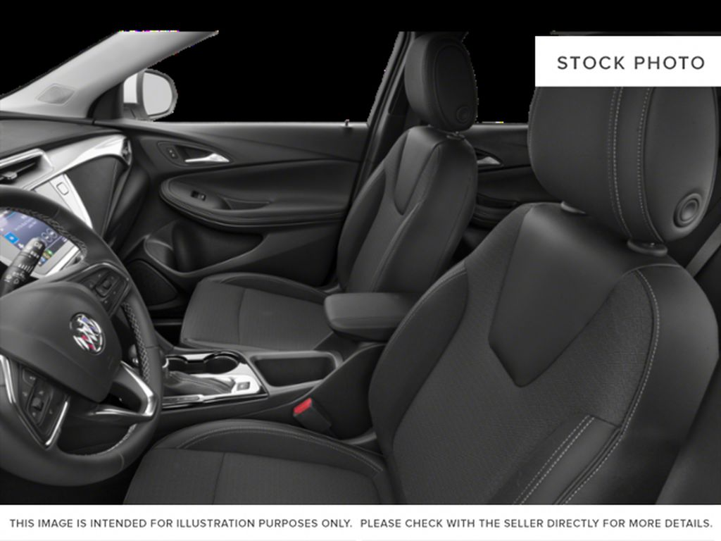 White Frost Tricoat 2021 Buick Encore GX Left Front Interior Photo in Oshawa ON