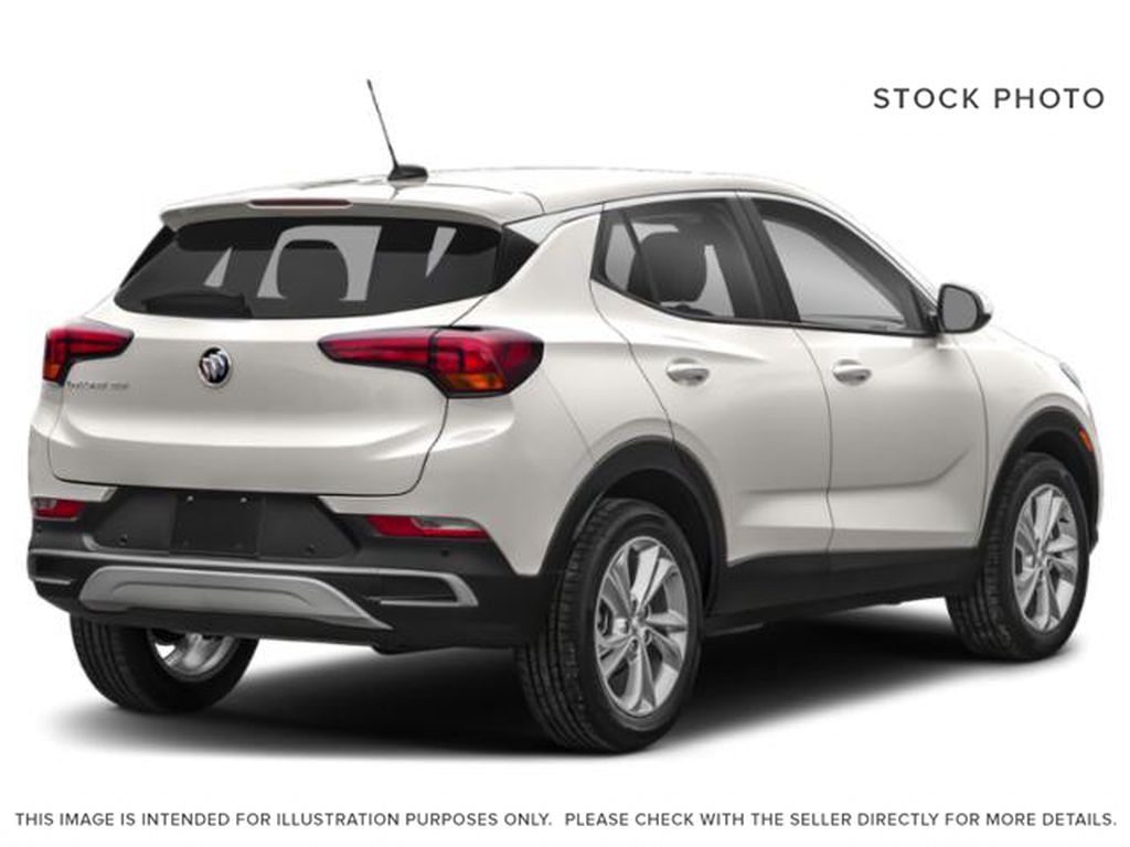 White Frost Tricoat 2021 Buick Encore GX Right Rear Corner Photo in Oshawa ON