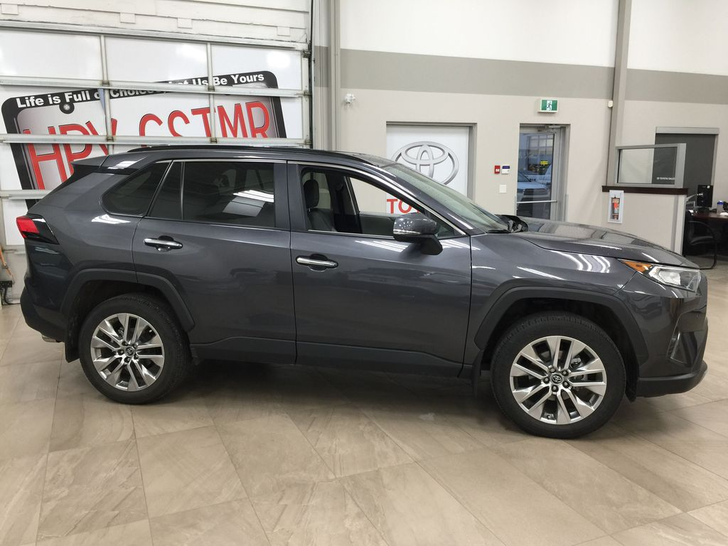 Gray[Magnetic Grey Metallic] 2019 Toyota RAV4 Limited AWD Right Side Photo in Sherwood Park AB