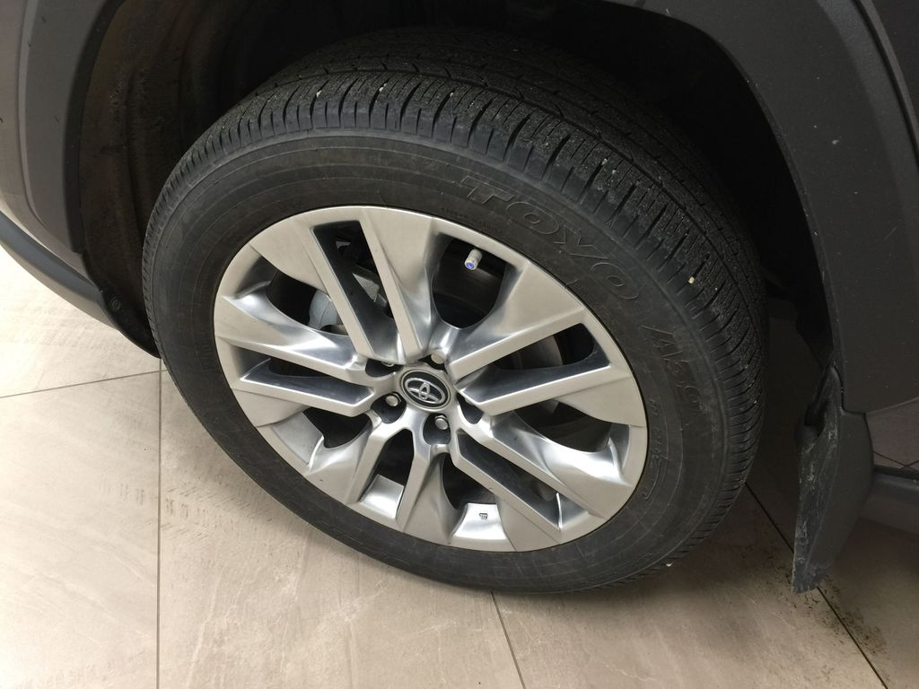Gray[Magnetic Grey Metallic] 2019 Toyota RAV4 Limited AWD Left Front Rim and Tire Photo in Sherwood Park AB