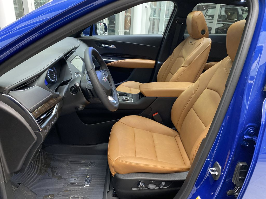 Blue[Wave Metallic] 2021 Cadillac XT4 Left Front Interior Photo in Edmonton AB
