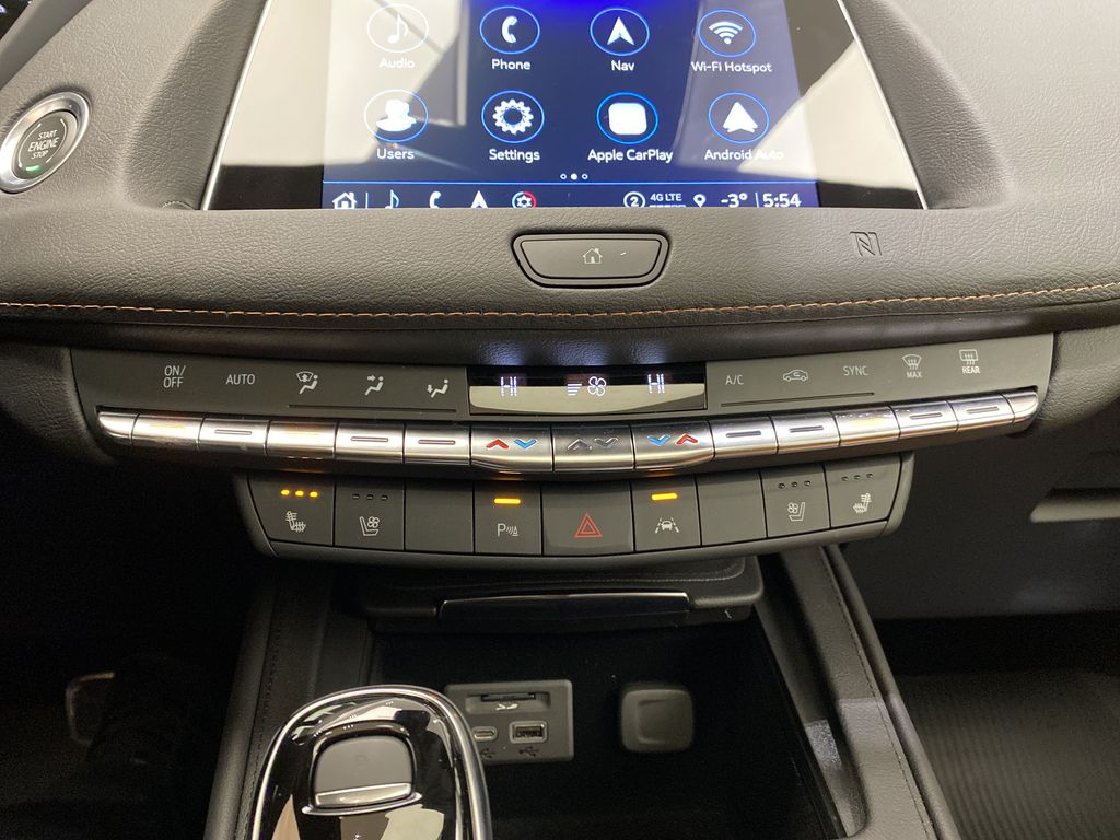 Blue[Wave Metallic] 2021 Cadillac XT4 Central Dash Options Photo in Edmonton AB