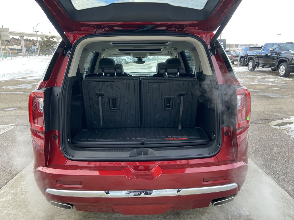 Red[Cayenne Red Tintcoat] 2021 GMC Acadia Denali Trunk / Cargo Area Photo in Calgary AB