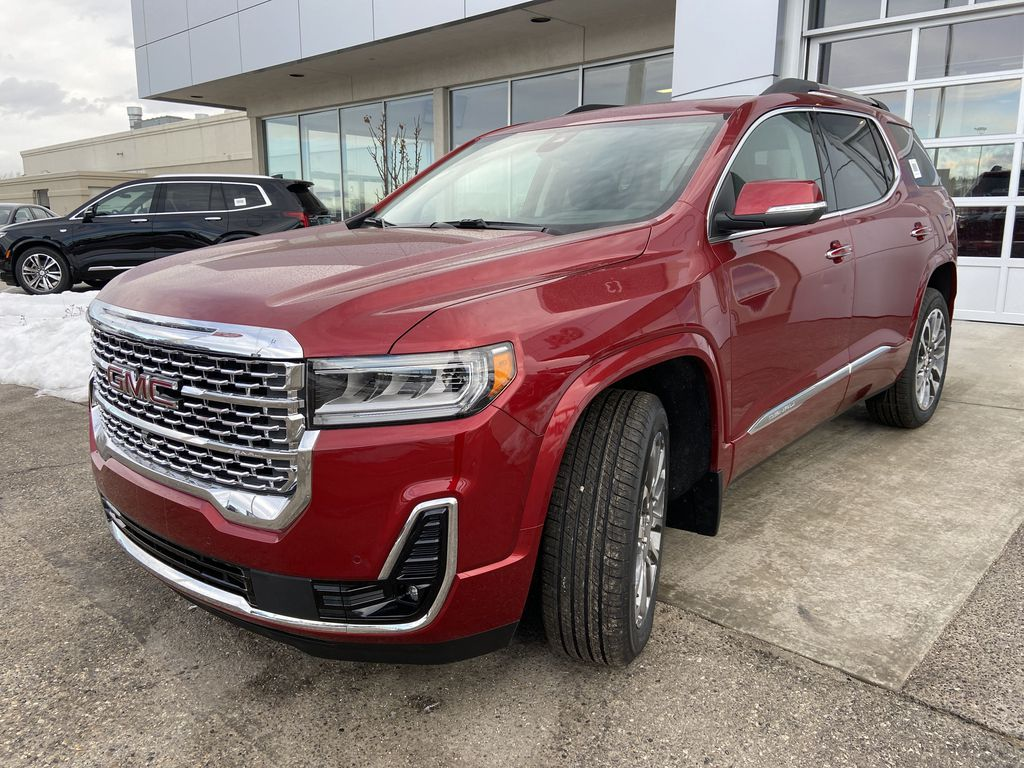 Red[Cayenne Red Tintcoat] 2021 GMC Acadia Denali Left Front Head Light / Bumper and Grill in Calgary AB