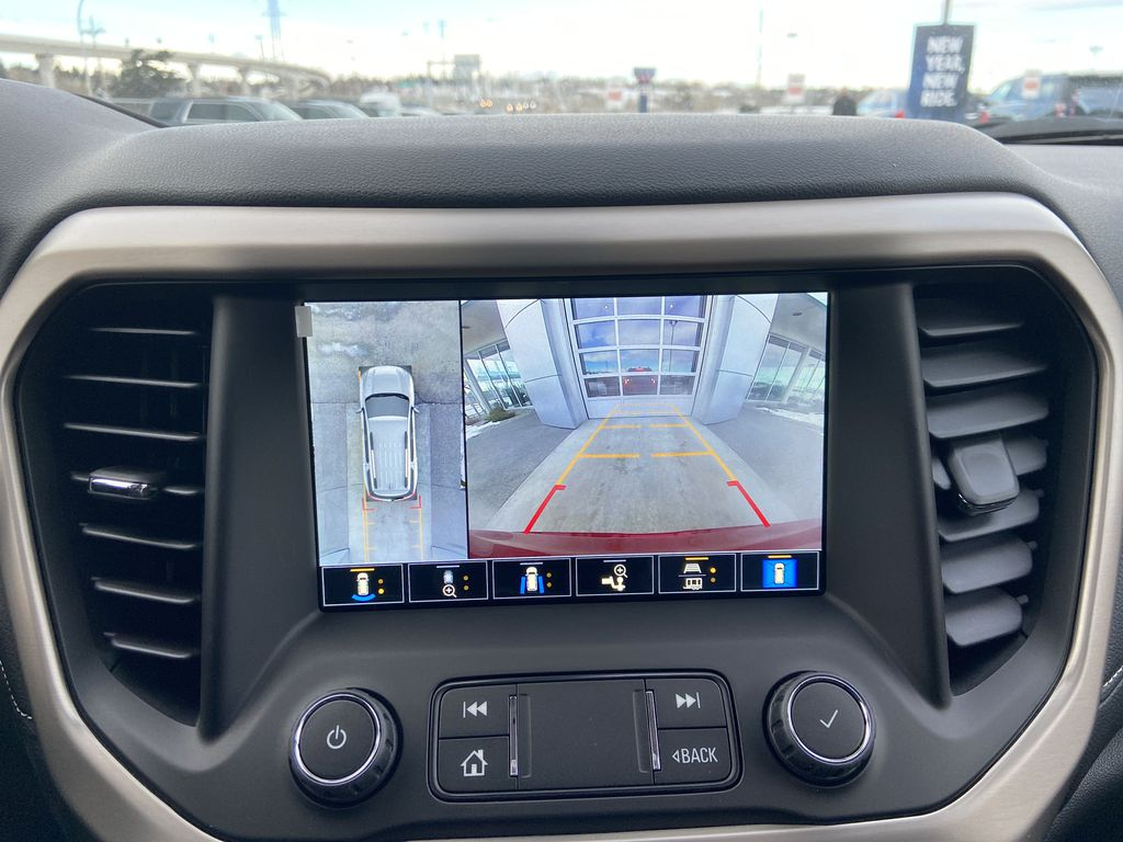 Red[Cayenne Red Tintcoat] 2021 GMC Acadia Denali Backup Camera Closeup Photo in Calgary AB