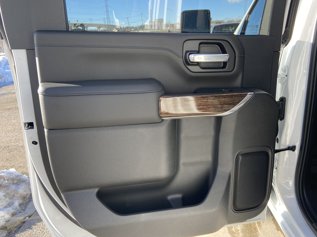 White[Summit White] 2021 GMC Sierra 2500HD SLE Left Rear Interior Door Panel Photo in Calgary AB
