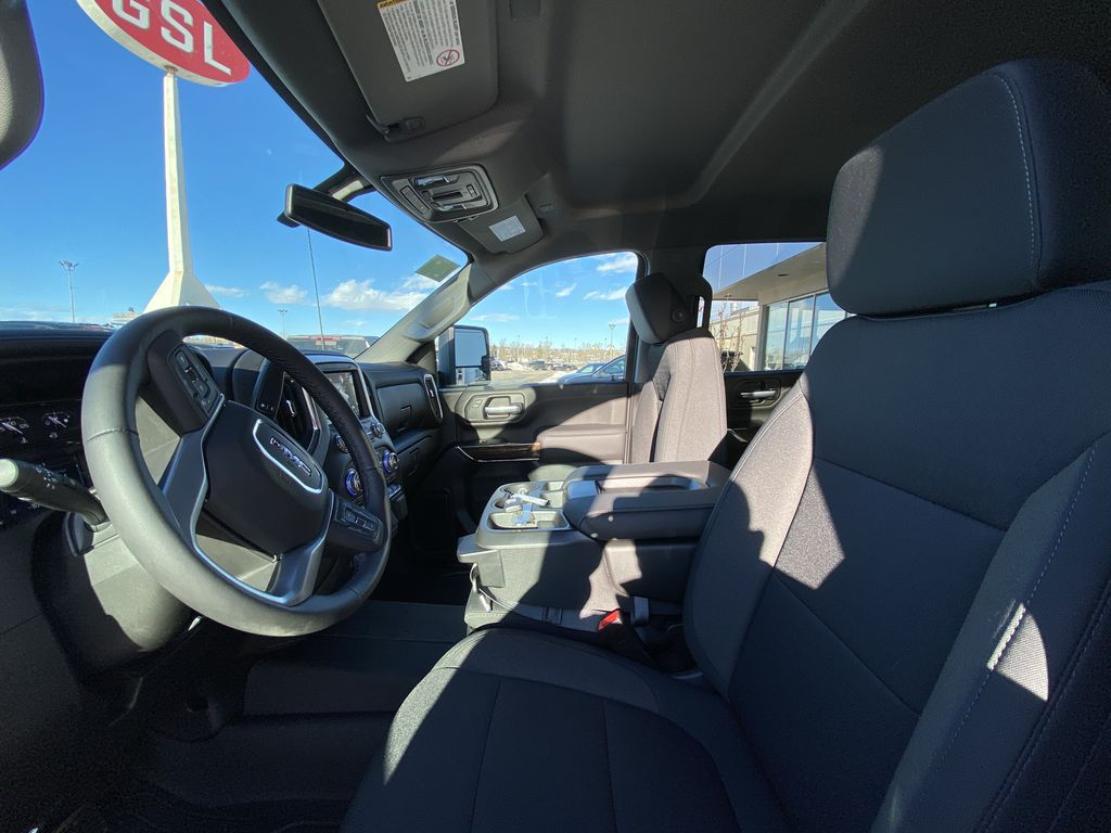 White[Summit White] 2021 GMC Sierra 2500HD SLE Left Front Interior Photo in Calgary AB
