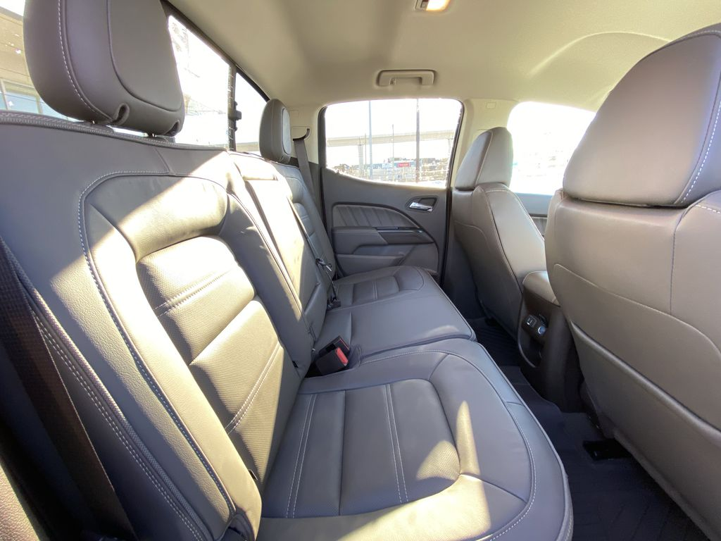 White[Summit White] 2021 GMC Canyon Denali Right Side Rear Seat  Photo in Calgary AB