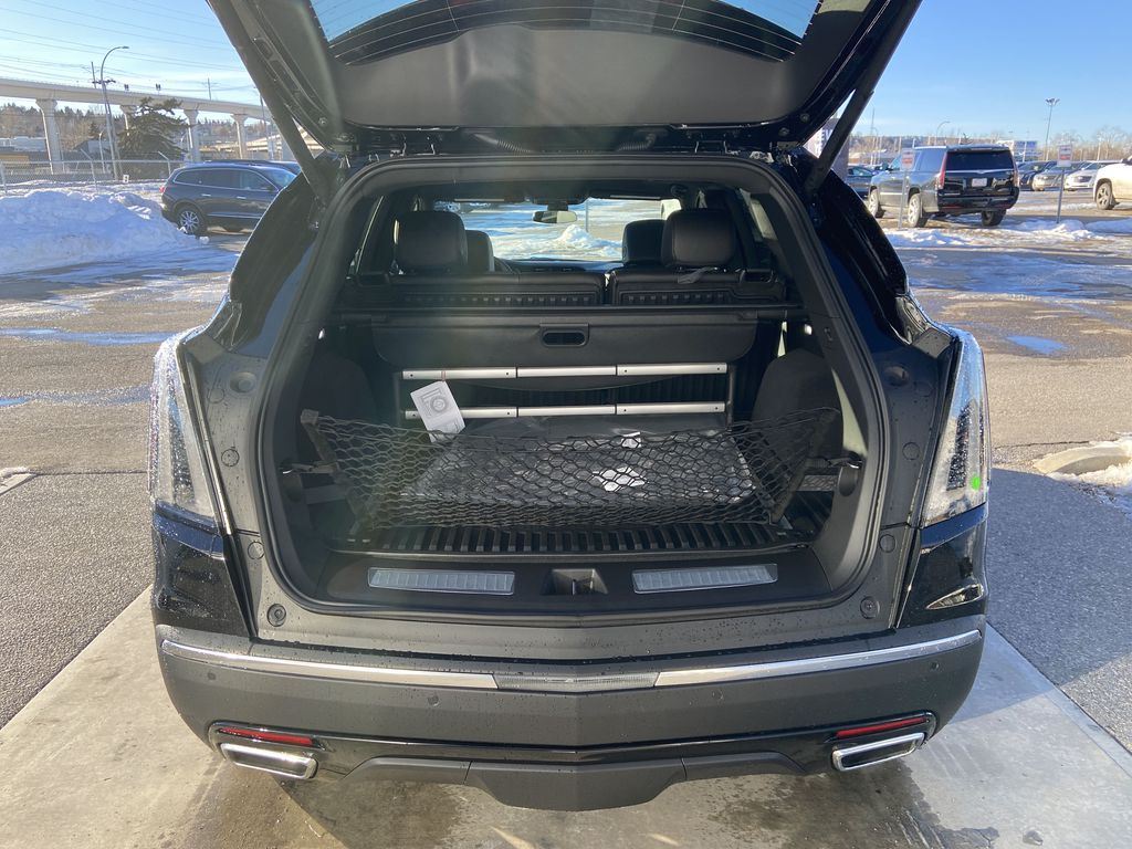 Black[Stellar Black Metallic] 2021 Cadillac XT5 Sport Trunk / Cargo Area Photo in Calgary AB