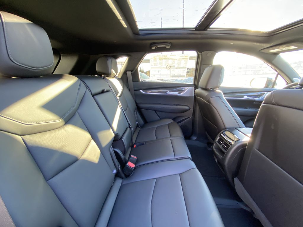 Black[Stellar Black Metallic] 2021 Cadillac XT5 Sport Right Side Rear Seat  Photo in Calgary AB