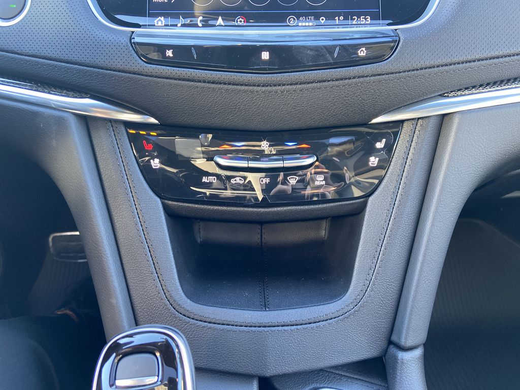 Black[Stellar Black Metallic] 2021 Cadillac XT5 Sport Central Dash Options Photo in Calgary AB