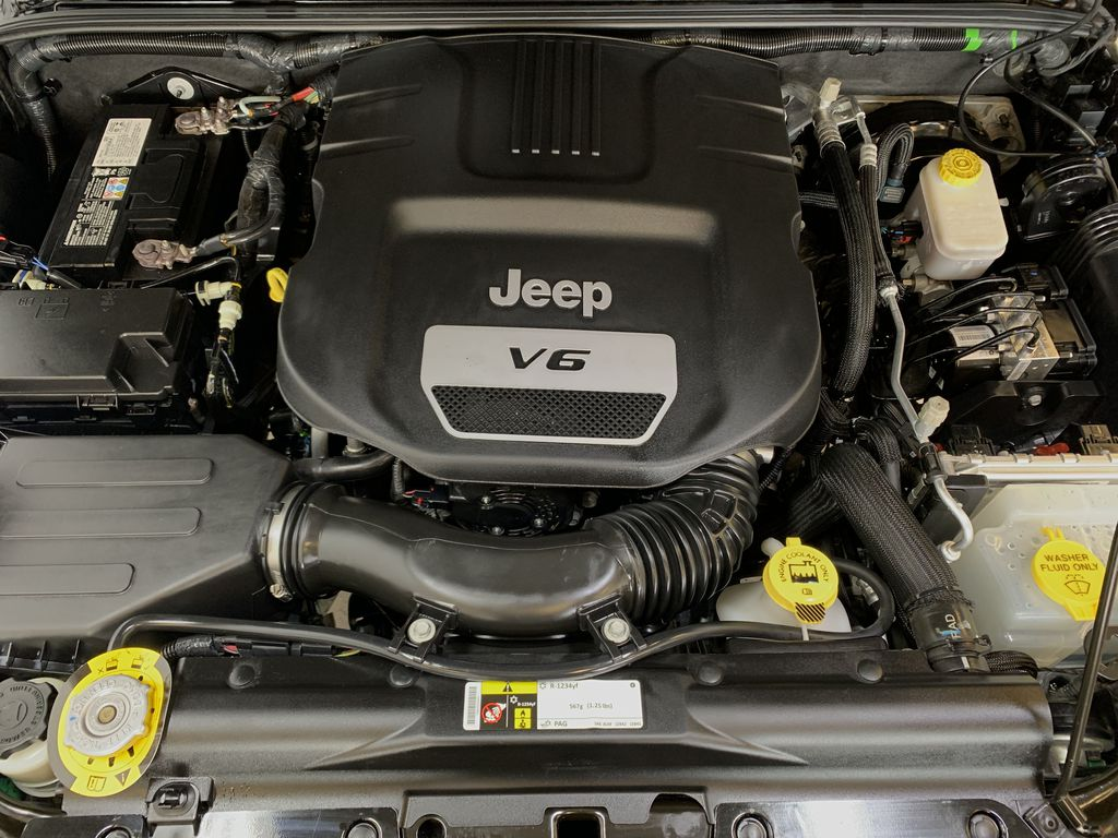 BLACK 2016 Jeep Wrangler Unlimited 75th Anniversary - NAV, Remote Start, Heated Seats Engine Compartment Photo in Edmonton AB