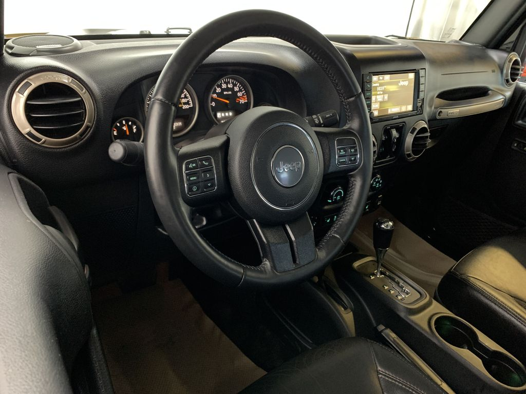 BLACK 2016 Jeep Wrangler Unlimited 75th Anniversary - NAV, Remote Start, Heated Seats Steering Wheel and Dash Photo in Edmonton AB