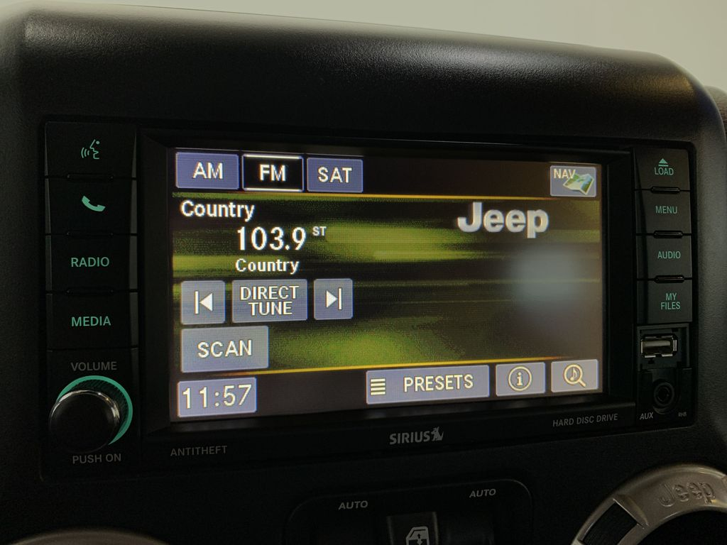 BLACK 2016 Jeep Wrangler Unlimited 75th Anniversary - NAV, Remote Start, Heated Seats Radio Controls Closeup Photo in Edmonton AB