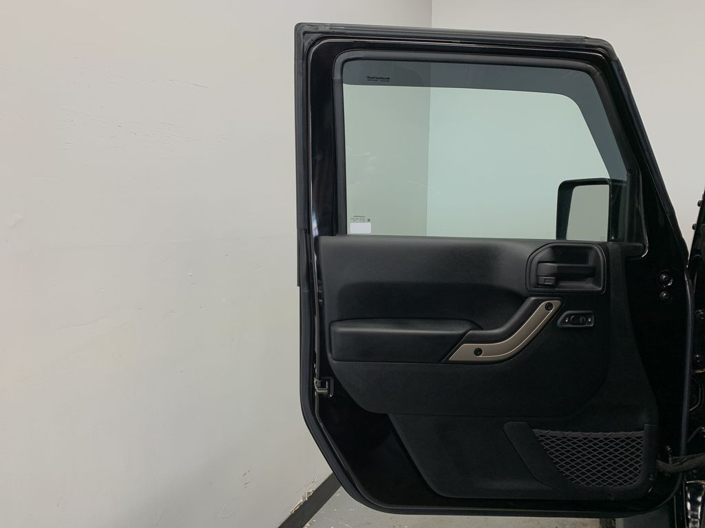 BLACK 2016 Jeep Wrangler Unlimited 75th Anniversary - NAV, Remote Start, Heated Seats Left Front Interior Door Panel Photo in Edmonton AB