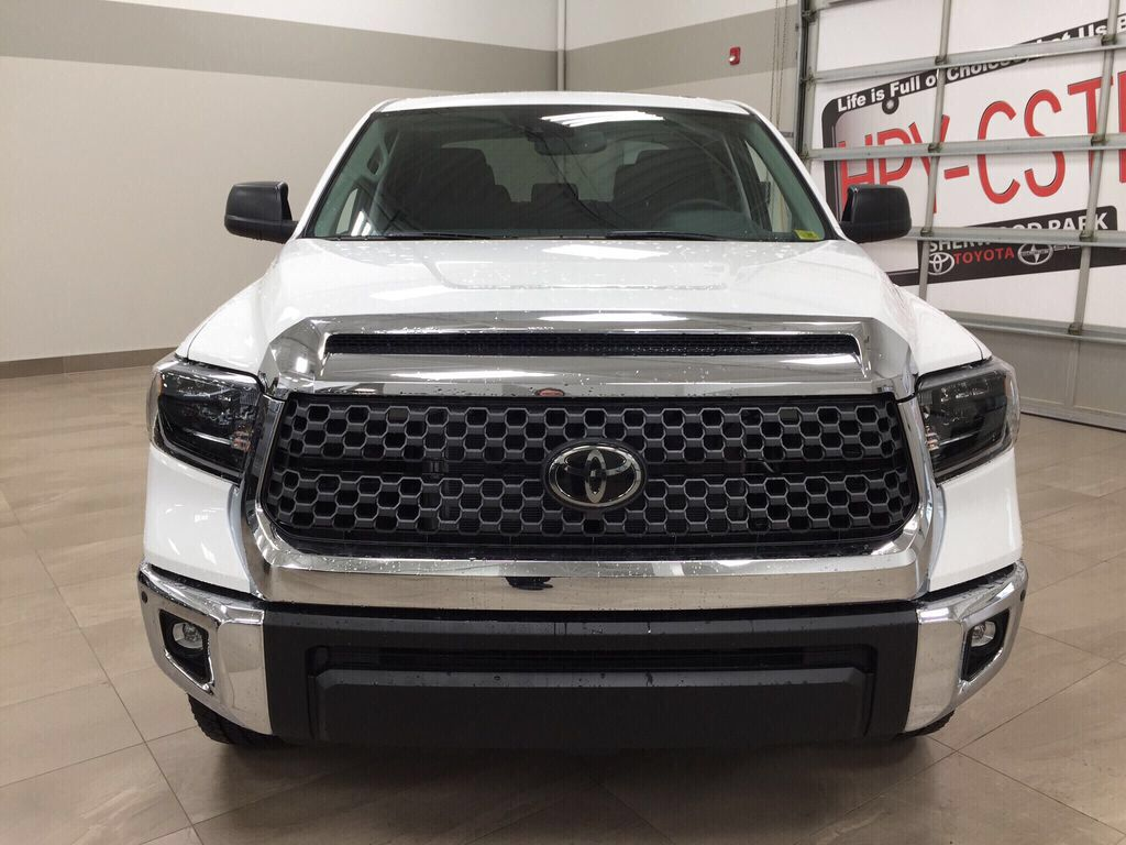 White[Super White] 2021 Toyota Tundra TRD Off-Road Front Vehicle Photo in Sherwood Park AB