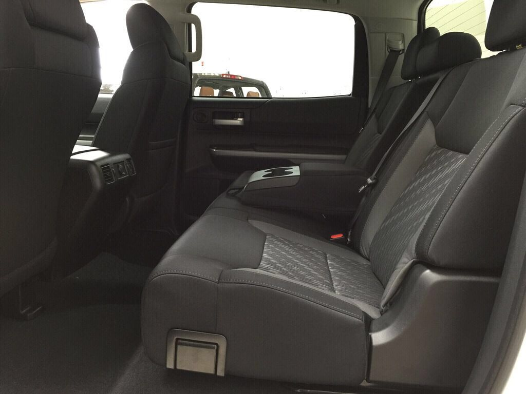 White[Super White] 2021 Toyota Tundra TRD Off-Road Rear Seat Photo in Sherwood Park AB